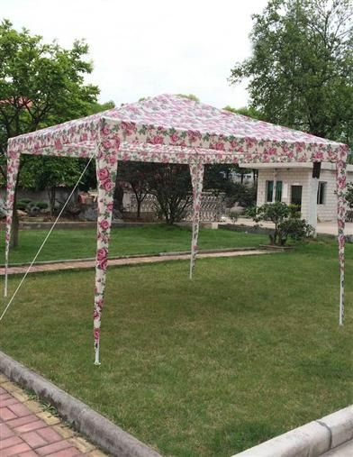 FLORAL TAILGATE TENT, just because.