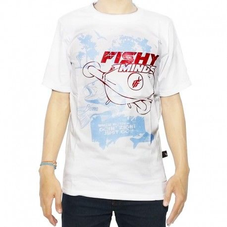 "Kaos Mancing IFT ""FISHY MINDS (WHITE)"""