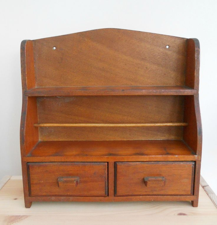 ANTIQUE VINTAGE WOODEN MINI SHELF UNIT WITH DRAWERS ~ SOLD ON MY EBAY SITE LUBBYDOT1