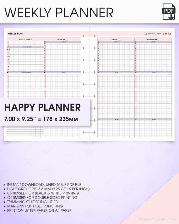 hourly week schedule