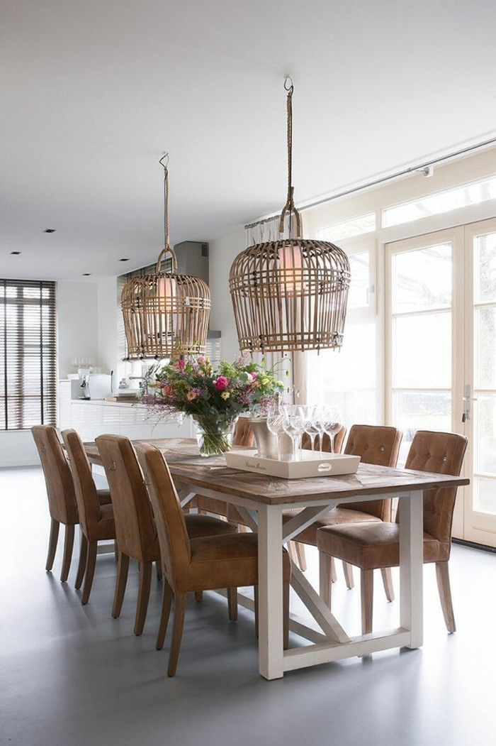 Furniture Trend 2016 New Collection Dining Table Chairs Leather Riviera  Maison Pendant Light
