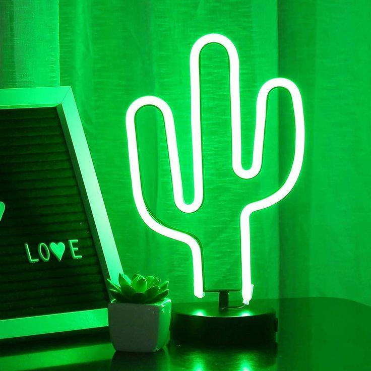 ENUOLI Cactus luces de neón señales LED Cactus luces de neón luces de la noche con la boda de dormitorio habitación USB pedestal sitio de la decoración de la batería Operación Cactus lámparas de neón: Amazon.es: Iluminación Cactus Lamp, Neon Cactus, Cactus Light, Cheap Neon Signs, Neon Light Signs, Led Neon Signs, Neon Lights For Rooms, Pedestal, Estilo Tropical