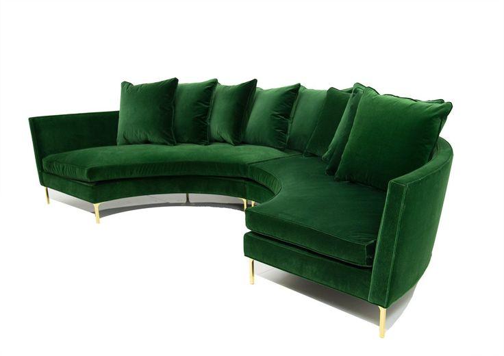 Sardinia Sectional In Emerald Velvet In 2019 Sofa