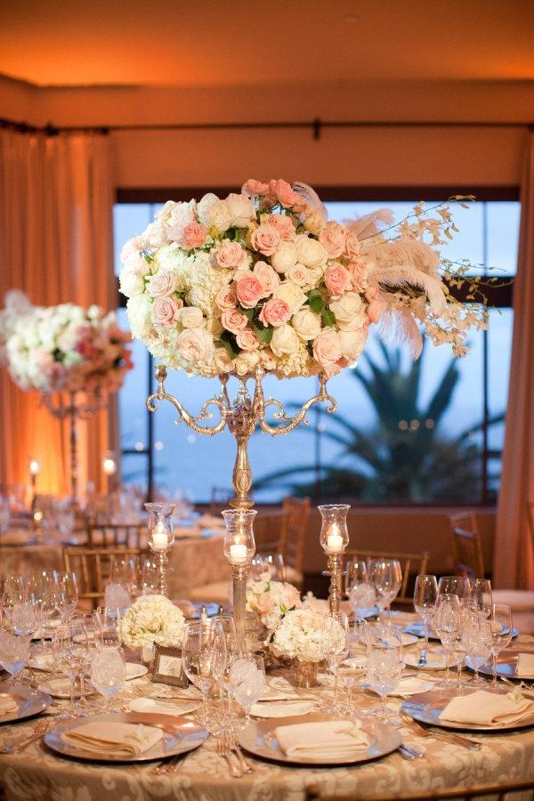roses wedding centerpieces