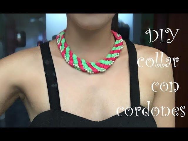 DIY collar con cordones