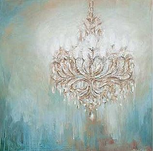 Wow - raised stencil chandelier over stunning background....man - I need more walls to play with!