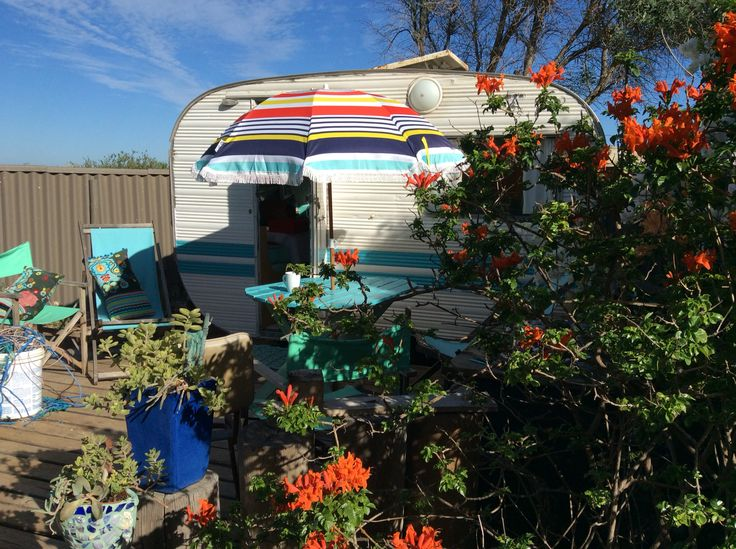 My 1968 retro caravan enjoying retirement in my garden by the sea - Sunset Beach - Western Australia