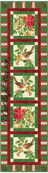 Windows Table Runner Quilt Pattern - Christmas, C$10.00 Fabric: www.northcott.com A Christmas Story