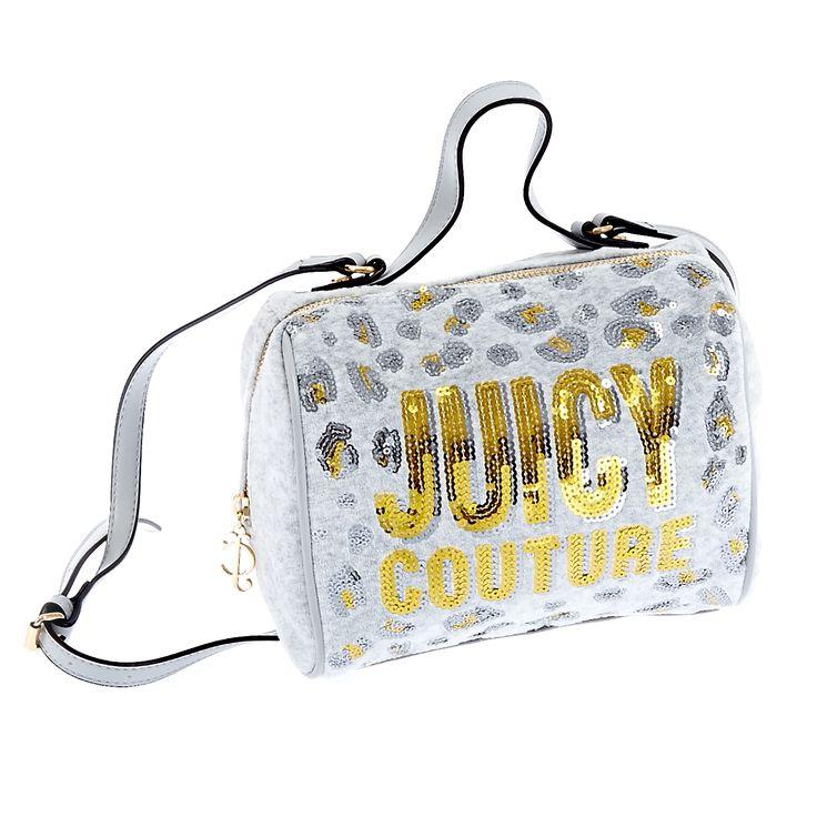 Tσάντα Juicy Couture animal print και το logo με παγιέτες σε χρυσή απόχρωση