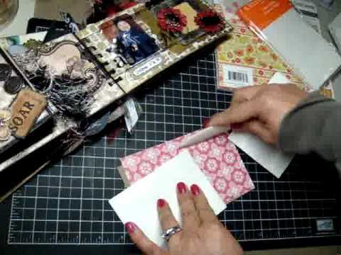 """Really awesome tutorial on flap pages and paper bag 3-pocket pages- RRM  Tutorial on """"active"""" mini album pages"""
