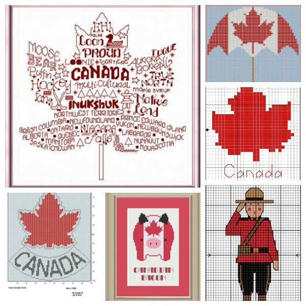 Featured in the Canada Day cross stitch pattern collection!