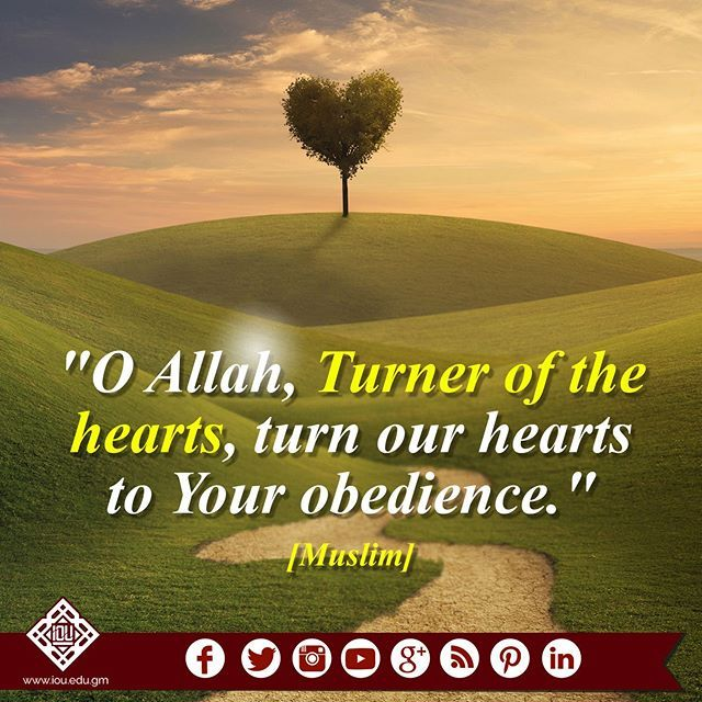 The Prophet (pbuh) used to pray saying, O Allah, Turner of the hearts, turn our hearts to Your obedience. [Muslim] #islamicOnlineUniversity #BilalPhilips