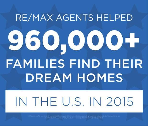 RE/MAX Agents helped over 960,000 families find their dream homes in 2015. #remaxsooh