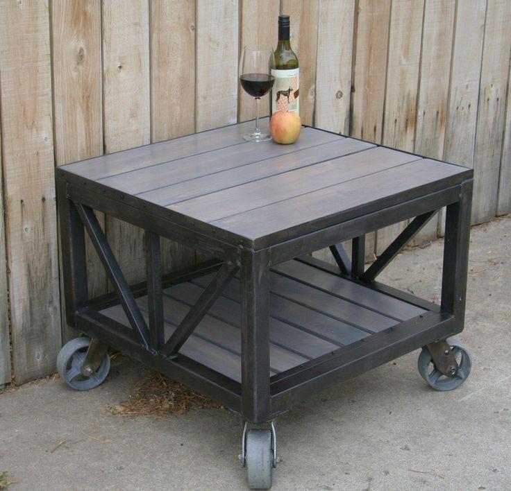 Handmade Scrap Metal And Reclaimed Wood Coffee Table Industrial Reclaimed Wood Coffee Table