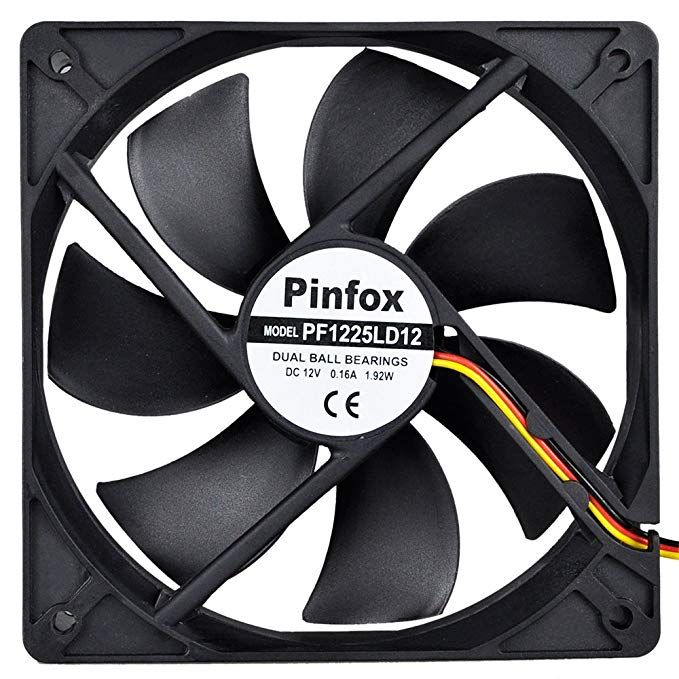 Pinfox 12v Dc 120mm Quiet Cooling Fan Silent Variable Speed