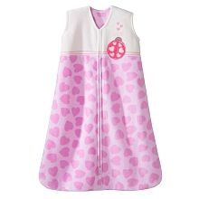 Halo SleepSack Wearable Blanket Micro-fleece - Pink Ladybug, Medium