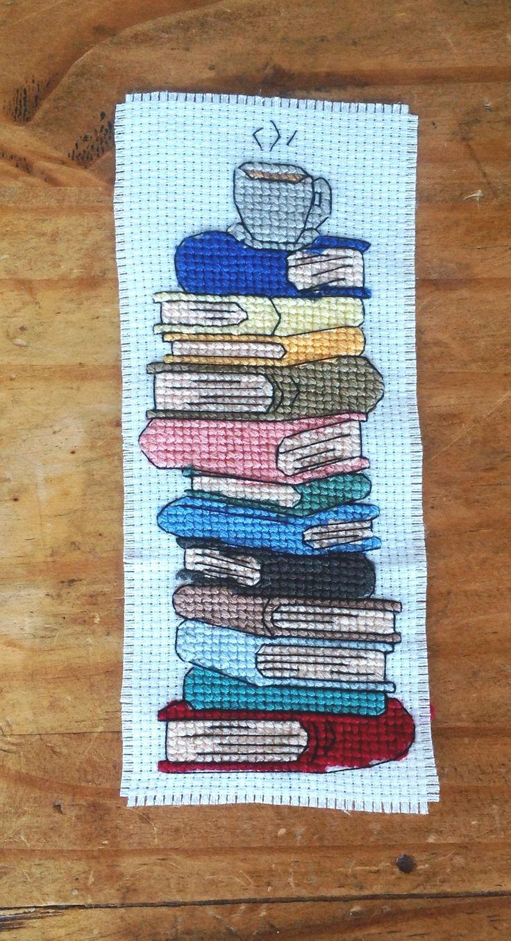 Cross-stitch bookmark...