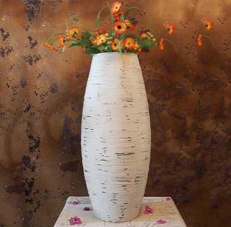 Kingart White U0026 Brown Bamboo Floor Vase Large Floor Vase Big Home Decor  Craft Flower Vase