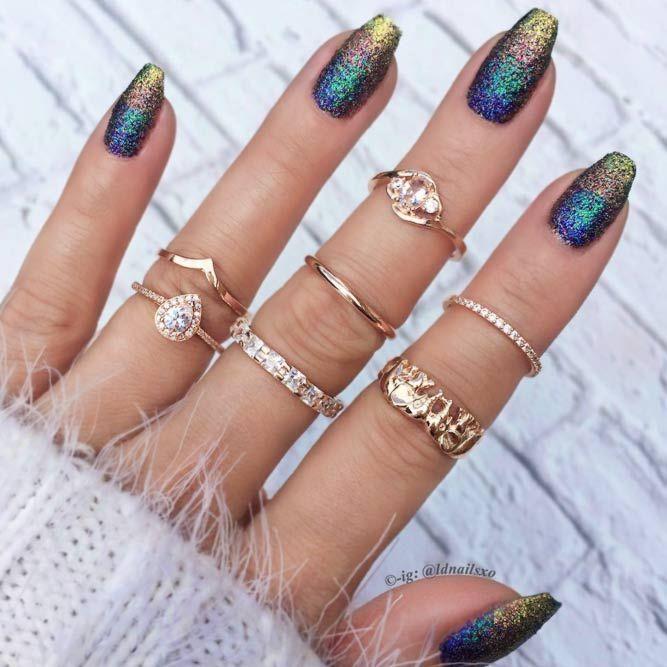 Cute Winter Nail Designs: Best 25+ Glitter Ombre Nails Ideas On Pinterest