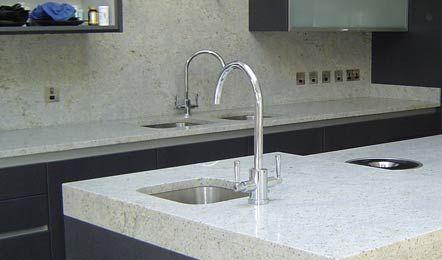 White granite instead of marble