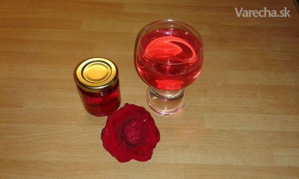 Ružový sirup (fotorecept)