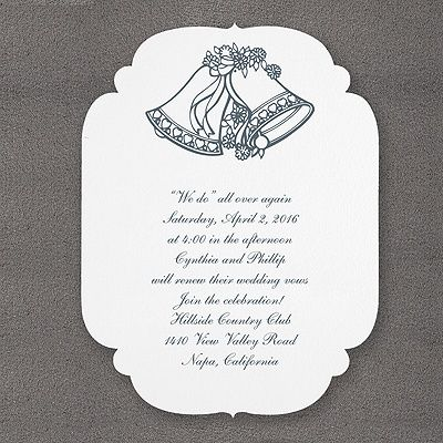 Wedding Bells With Rounded Scallops Invitation Bright White Weddingneeds Carlsoncraft