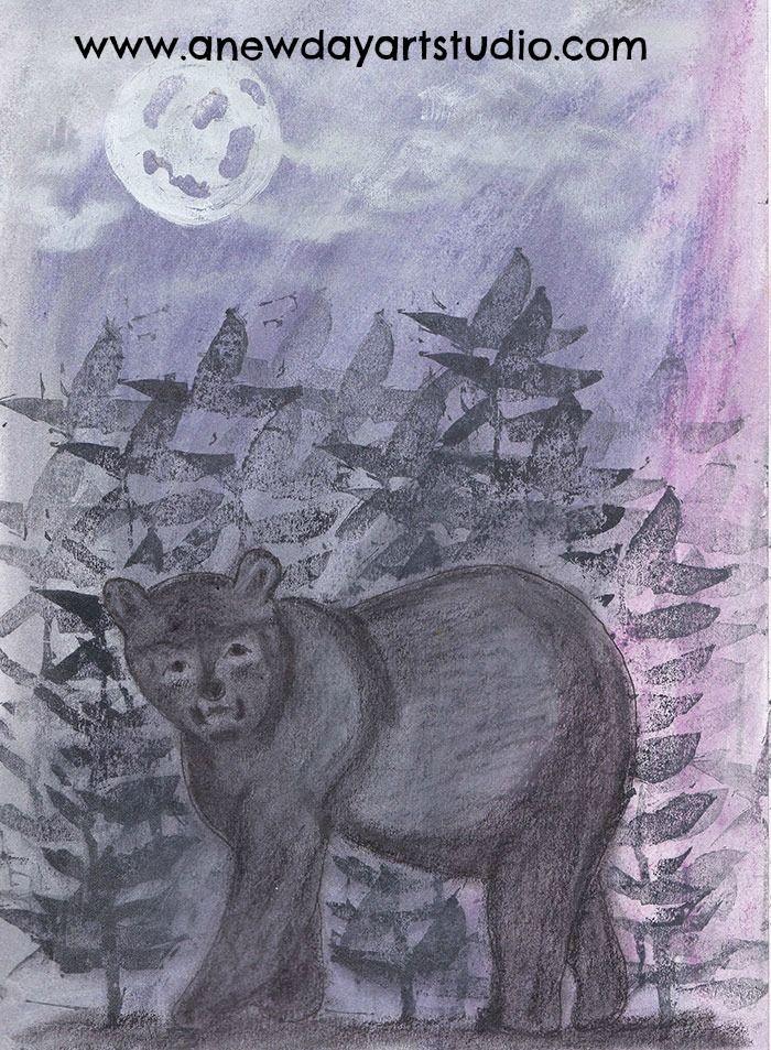 Bear totem in my sketchbook