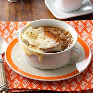French Onion Soup Recipe from Taste of Home -- shared by Sandra Chambers of Carthage, Mississippi