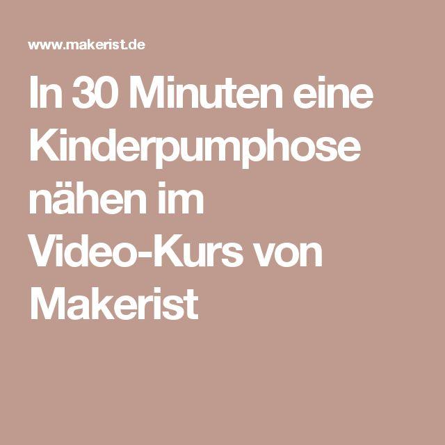 In 30 Minuten eine Kinderpumphose nähen im Video-Kurs von Makerist