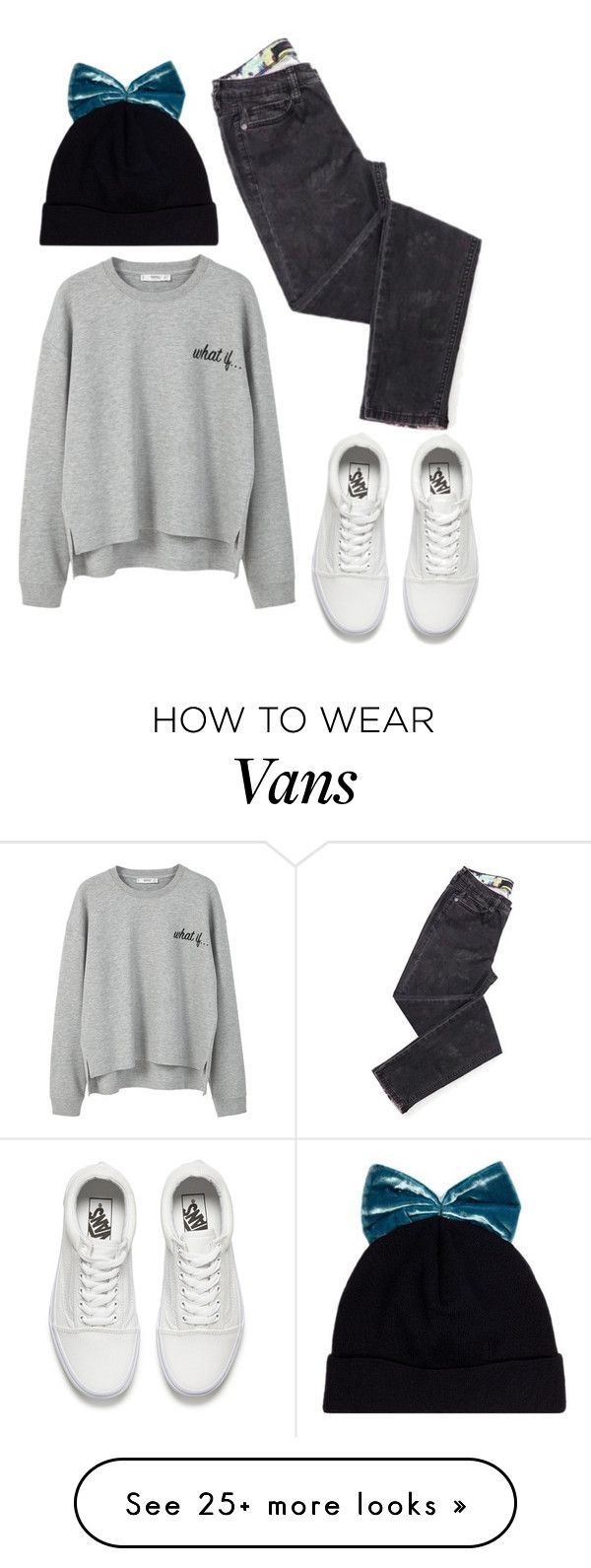 """"""""""" by misandovalgonza on Polyvore featuring Federica Moretti, MANGO and Vans"""