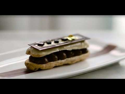 This chocolate éclair is one of our Pastry Chef, Jeffry Kahle's, signature sweets. It's made to impress even the most discerning palates with rich flavours of chocolate and espresso. We dare you to try this at home!