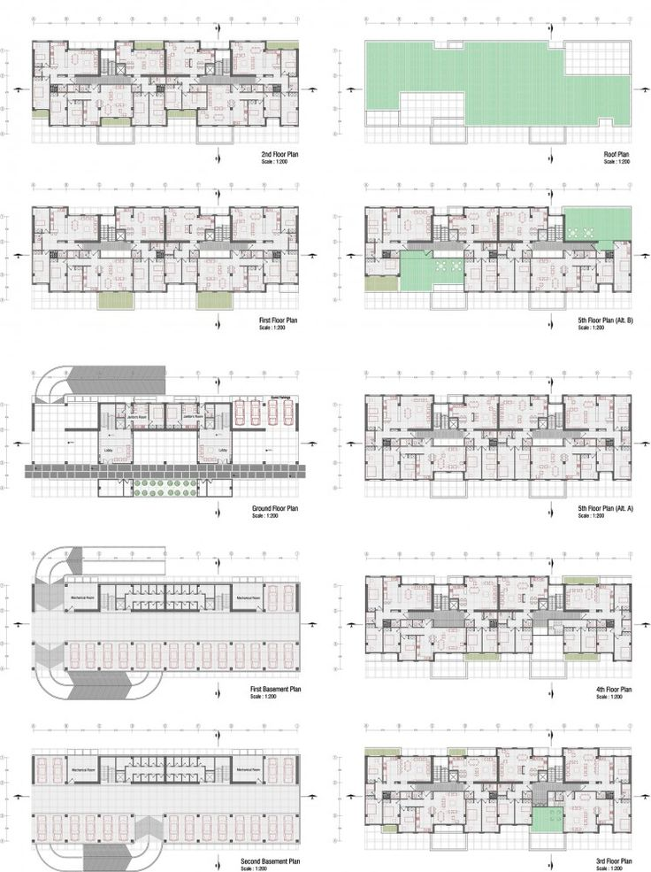 98 best images about residential building plans on for Residential plan