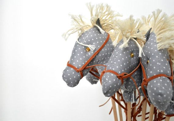 Mini Stick Horse Favors Hobby horse Party favors Baby by Penhand