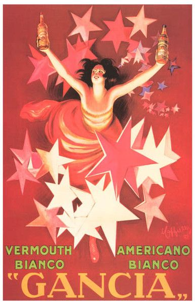 Gancia Vermouth Bianco Leonetto Cappiello Ad Art Poster 11x17 – BananaRoad