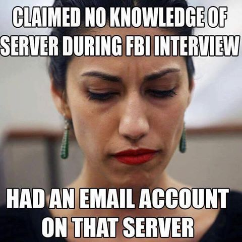 """Huma Abedin: Hillary Clinton's Unindicted Email Co-Conspirator -  """"Ignorant? Or dishonest?"""", Paul Nehlen ~ RADICAL Rational Americans Defending Individual Choice And Liberty"""