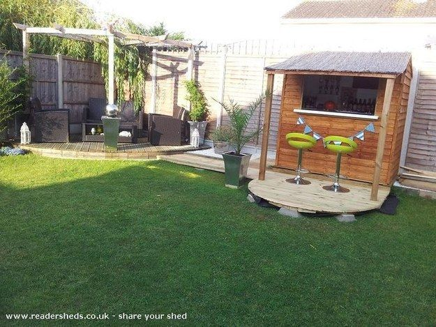 There's no reason you can't fit a pub shed into a small backyard... | This Is How To Make Your Shed Into Your Own Private Bar