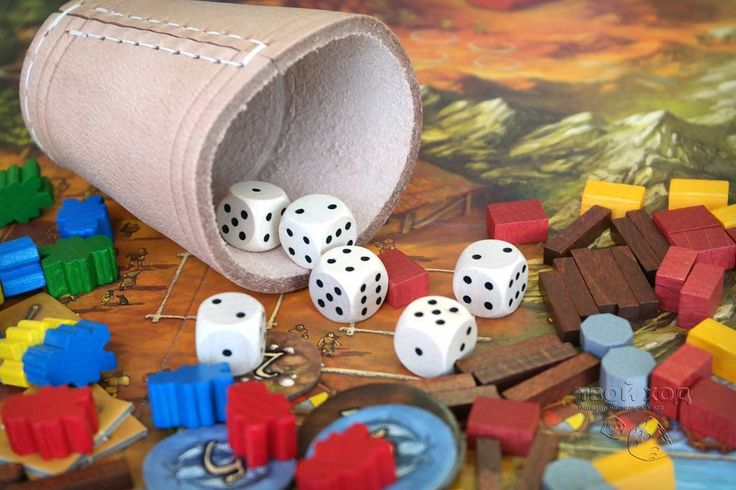 Board game Stone age. Dice. (Настольная игра Каменный век. Кубики.)