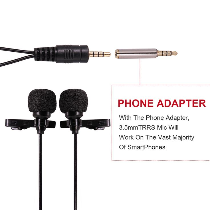 Dual-Headed Lavalier Lapel Clip-on Omnidirectional Condenser Microphone for Interview Conference for iPhone Android Phones //Price: $32.48     #device
