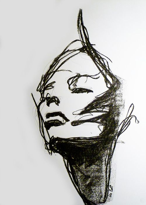 Abstract Face Line Drawing : Best charcoal art info images on pinterest