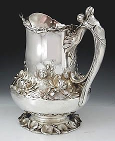 Matthews and Prior antique sterling silver water pitcher