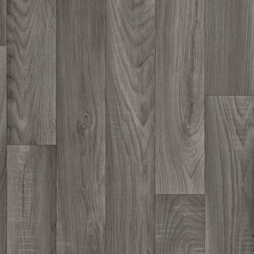 Thick Cushioned Vinyl Flooring Sheet Comfort Grey Oak