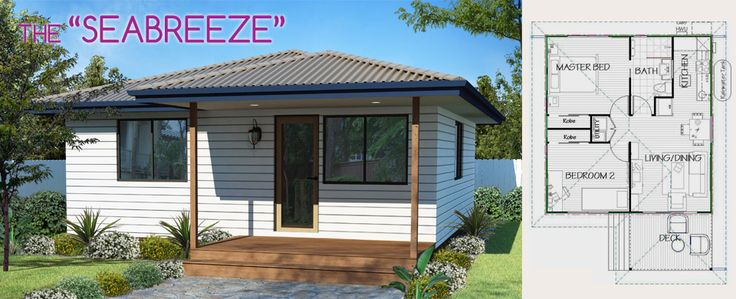 The Seabreeze Granny Flat: Our popular two bedroom design with open-plan living and dining area.