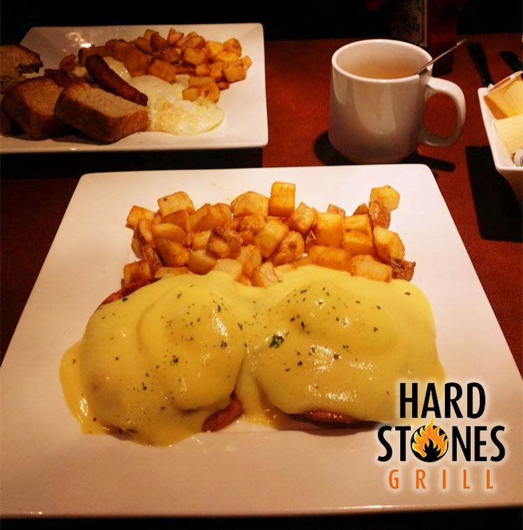 TY Emily B for sharing a photo of our eggs benedict! View our full breakfast menu here: http://www.hardstonesgrill.ca/breakfast