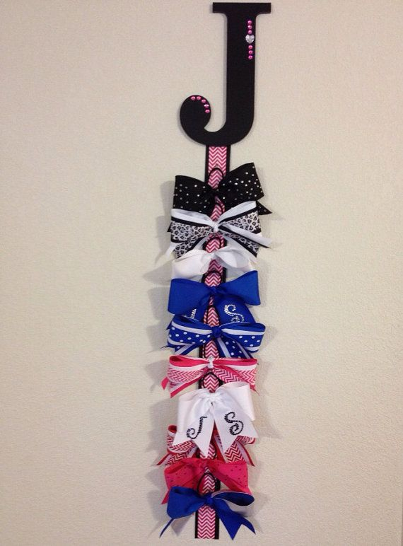Cheer Bow Hanger by PolkyKnotsBoutique on Etsy, $25.00