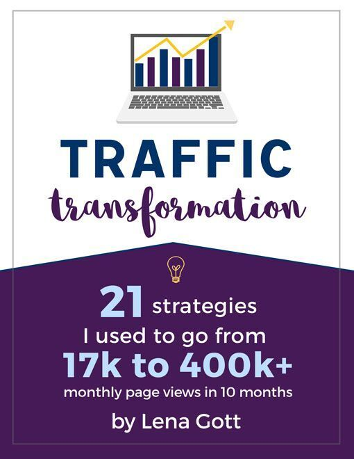 Click through to purchase the MUST read blogging book from blogger Lena Gott. You will love this book and it will bring you more traffic when you implement all of her strategies!