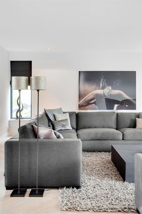25 beste idee n over eigentijdse woonkamers op pinterest grote woonkamers donkere bekleding - Eigentijdse stijl slaapkamer ...