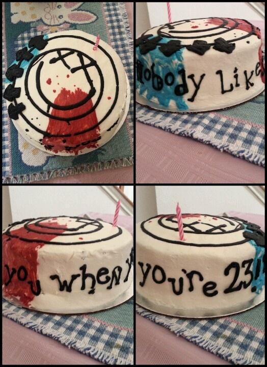 I'm offic the best sister ever. Blink 182 23rd birthday cake.