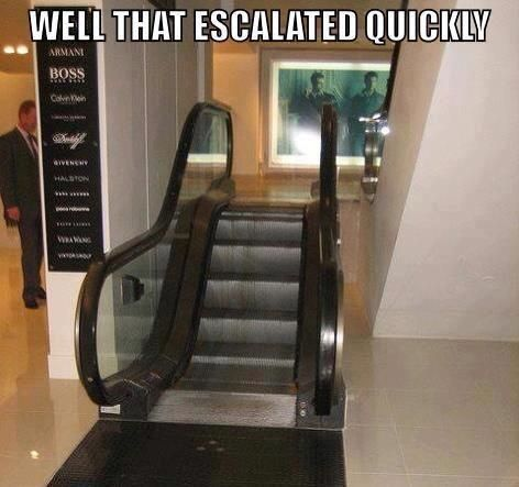 How lazy do you have to be to think this is needed for this tiny incline?  Escalators - you're doing it wrong.