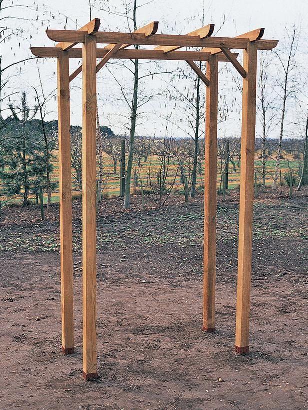 How to build a freestanding wooden pergola kit crab for Timber garden arch designs