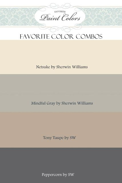 Sherwin Williams Gray Paint Colors Netsuke Mindful Gray Tony Taupe And Peppercorn By Sherwin